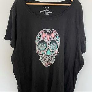 Torrid Skull Top Size 6